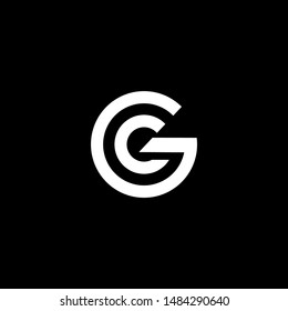 GC logo design template vector illustration