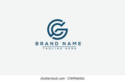 GC Logo Design Template Vector Graphic Branding Element.