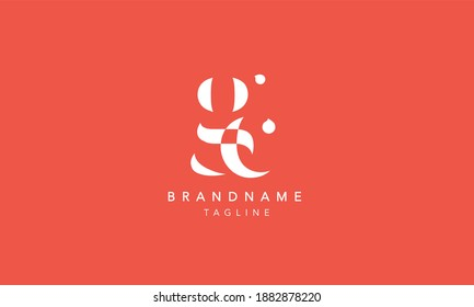 GC Lowercase Letter Initial Icon Logo Design Vector Illustration