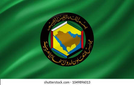 GCC (Gulf Cooperation Council) Flag in Vector Illustration