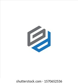 GD or DG  monogram style logo design with blue and grey.