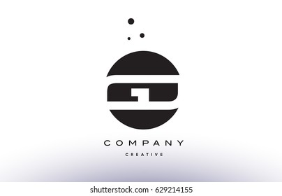 GD G D alphabet company letter logo design vector icon template simple black white circle dot dots creative abstract