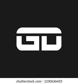 GD or G D letter alphabet logo design in vector format.