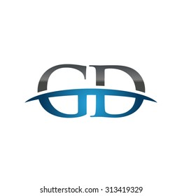 GD initial company blue swoosh logo