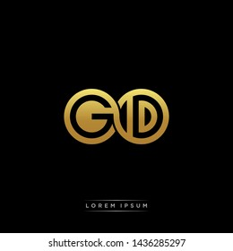 GD initial letter linked circle capital monogram logo modern template