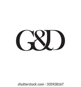 G&D Initial logo. Ampersand monogram logo