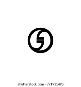 GD letter in a circle logo vector