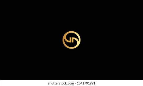 GD letter logo design template vector illustration minimal design