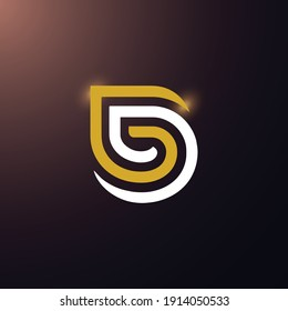 GD letter logo design vector