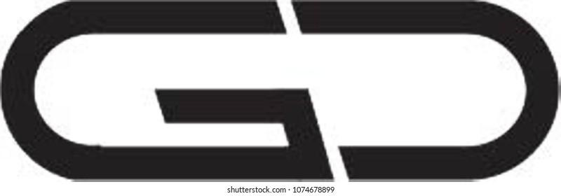gd letter logo vector
