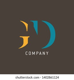 GD logo design for companies. Monogram logo. Letters G and D.