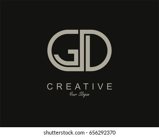 GD Logo. Letter design vector
