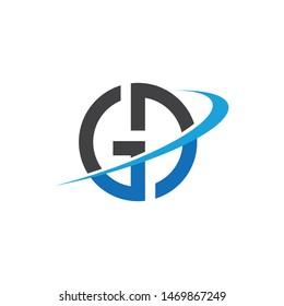 gd,dg faster letter logo icon illustration vector design