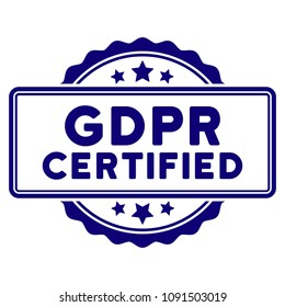 GDPR Certified seal template. Vector element with clear design for stamps and watermarks.