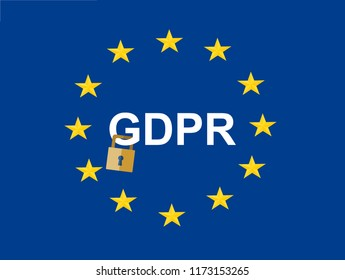 GDPR concept illustration. Idea of data protection.