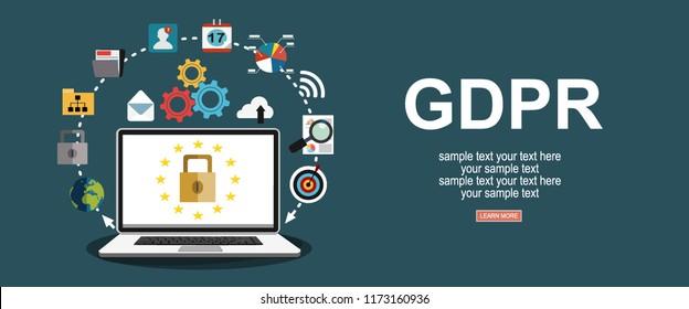 GDPR concept illustration. Idea of data protection.