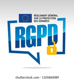 GDPR (French - RGPD Reglement general sur la protection des donnees) logo icon
