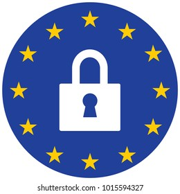 gdpr General Data Protection Regulation GDPR. European Union gdpr vector illustration. GDPR is General Data Protection Regulation in European Union.
