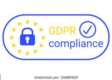 GDPR - General Data Protection Regulation. GDPR compilance logo. Vector illustration