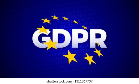 GDPR, General Data Protection Regulation, data protection EU law regulation, vector illustration