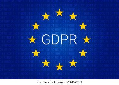 GDPR - General Data Protection Regulation. Vector illustration