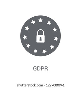 GDPR icon. Trendy GDPR logo concept on white background from Smarthome collection. Suitable for use on web apps, mobile apps and print media.