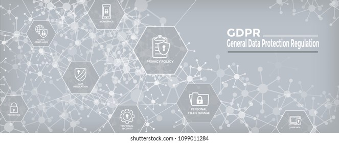 GDPR & Privacy Policy Web Banner Header and Background