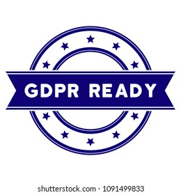 GDPR Ready seal template. Vector element with clear design for stamps and watermarks.