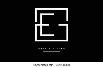 EG ,GE ,E ,G  Abstract Letters Logo Monogram