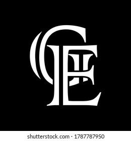 GE letter logo with black background.The nice white letter logo.