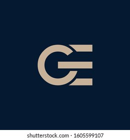 GE letter logo and icon designs