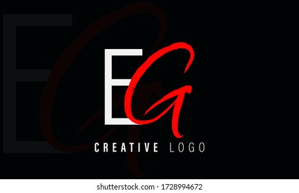 GE letter vector logo.EG letter vector logo