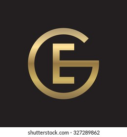 EG or GE letters, golden circle G shape