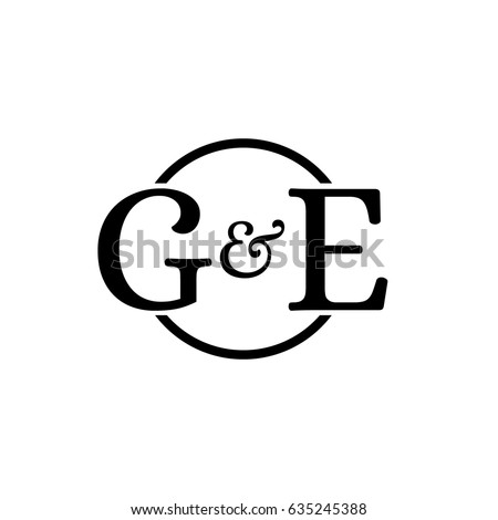 Ge Logo Stock Vector Royalty Free 635245388 Shutterstock