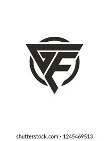 GE EG Triangle Vector Circle Logo Design