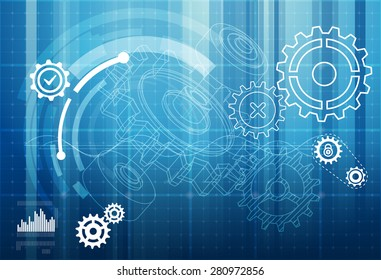Gear Abstract Background - Illustration