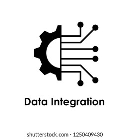 gear, circuit board, data integration icon. Element of business icon for mobile concept and web apps. Detailed gear, circuit board, data integration icon can be used for web