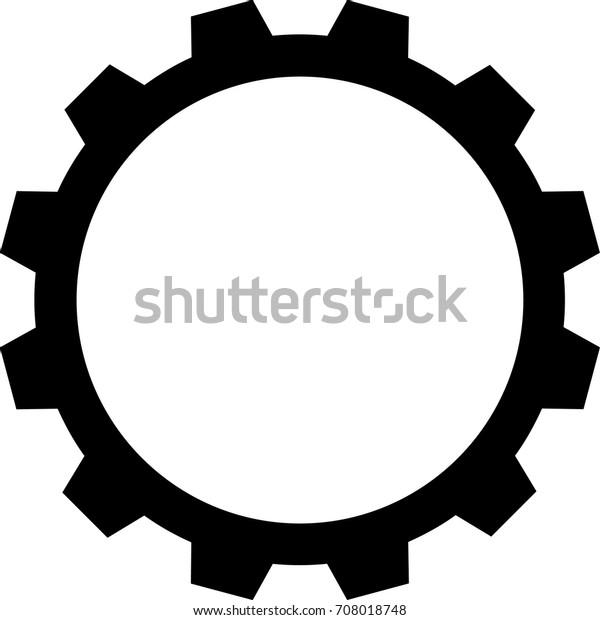 Gear Cog Icon Stock Vector (Royalty Free) 708018748