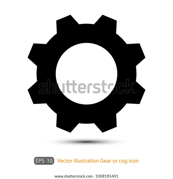 Gear Cog Icon On White Background Stock Vector (Royalty Free