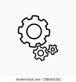 Gear : Cog Icon - Vector, Sign and Symbols for Design, Presentation, Website or Apps Elements.