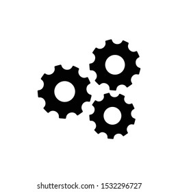 Gear, cog, settings icon vector illustration