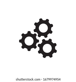Gear, cog, settings icon vector illustration