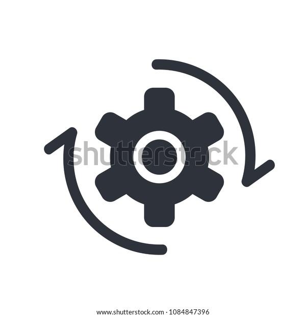 gear cogwheel rotate icon vector
