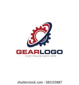 gear concept logo icon vector template