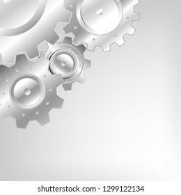 Gear concept realistic vactor background