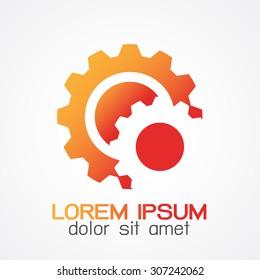 Gear design, gears turning vector logo logotype icon,logo template