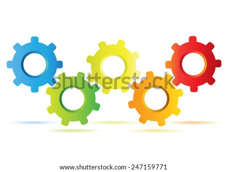 gear diagram process 450w 247159771 gear diagram process diagram stock vector (royalty free) 247159771