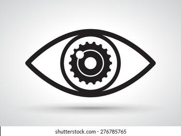 Gear in eye, vector