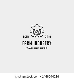 gear farm logo vector nature industry symbol signs icon illustration