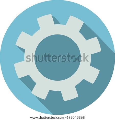 Gear flat icon light blue eps stock vector royalty free jpg 450x470 Light  blue gear a8b89fa7fe467